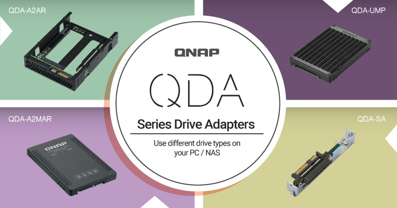 QNAP Introduces the QDA Series of Drive Adapters for PC and