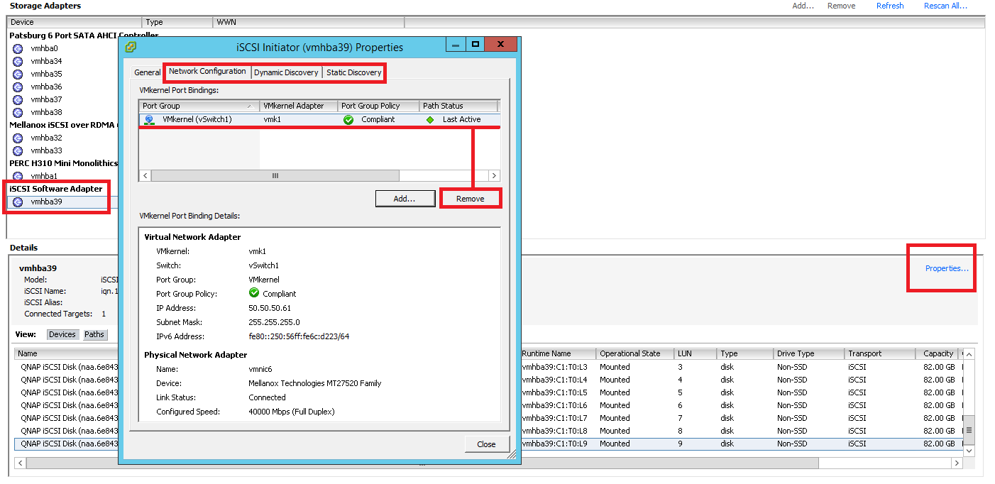 Using iSCSI Extensions For RDMA (iSER), to improve the